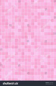 bathroom wall pink different shades mosaic stock illustration