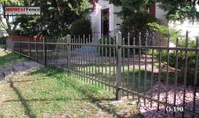 2 rail ornamental iron fences midwest fence