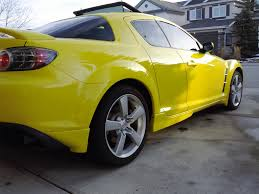 2004 mazda rx8 gt yellow with black leather interior 6 speed