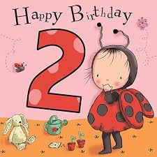 2 birthday card twizler 2nd birthday card for with