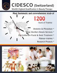 Beauty Therapy Anatomy And Physiology Cidesco Diploma World U0027s Highest Qualification In Beauty Therapy