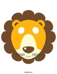 lion mask printable lion mask