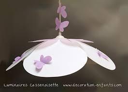 lustre chambre pas cher suspension fleur blanche et parme fabrique casse noisette