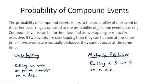 compound events probability worksheet worksheets