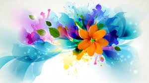 wallpaper of colorful bright flowers abstract colorful wallpaper
