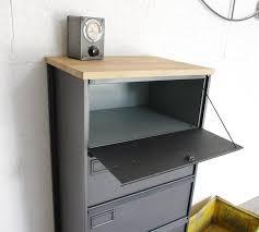 buffet bureau meuble clapets administratifs métal restauré meuble de rangement