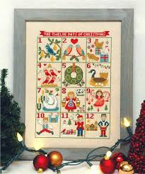 12 days of christmas cross stitch pattern instant download u2013 tiny