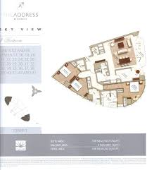 floor plans by address the address sky view floor plan56 dubai international real