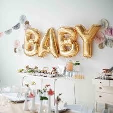 gold letter balloons gold foil 16 baby letter balloons set for baby shower party