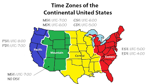 usa time zone map est what is a time zone
