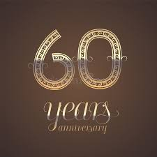 60 years anniversary 60 years anniversary vector icon symbol stock vector