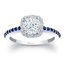 sapphire halo engagement rings barkev s halo engagement ring with blue sapphires 7838lbs