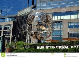 Trump Tower Nyc by Nyc Chromium Unisphere At Trump Tower Editorial Image Image