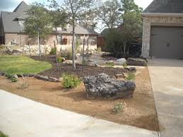 native plant landscaping ideas front yard landscape xeriscape theme with decomposed granite
