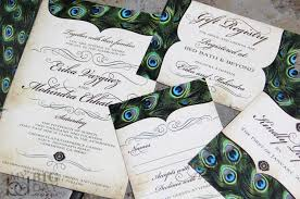 peacock invitations vintage peacock feathers wedding invitation set sophisticated