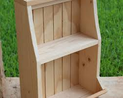 Free Standing Wood Shelves Plans by Unfinished Shelf Etsy