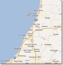 map of southwest map of south michigan michigan map