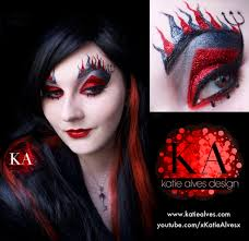devil woman face paint halloween makeup with tutorial by