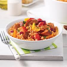 cuisiner des saucisses casserole de riz aux saucisses italiennes soupers de semaine