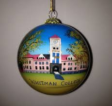 hand painted ornament whitman college bookstore