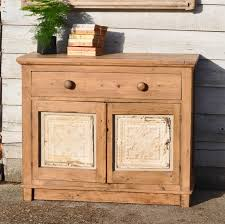 Pine Cabinet Vintage Old Pine Cupboard With American Tin Ceiling Tile
