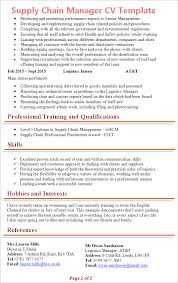 Logistics Manager Resume Examples by Good Cv Template Kent
