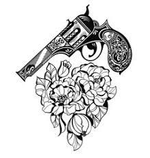 tattoo u0026 gun vector images over 530