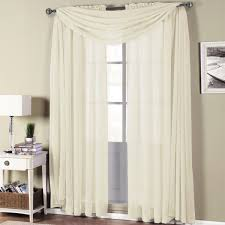 Crushed Voile Sheer Curtains by Amazon Com Abri Ivory Rod Pocket Crushed Sheer Curtain Panel