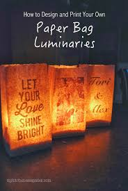 paper bag luminaries halloween customizable paper luminaries wedding weddings and rehearsal