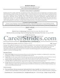 resume exles high education only disclaimer science teacher resume exles shalomhouse us