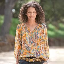 paisley blouse peasant yellow paisley blouse tunics tops