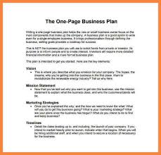 7 example business plan resign lattersample business plans one