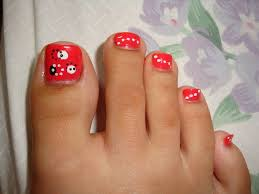 ladybug nail art design youtube 31 toe nail art designs ideas