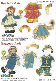 raggedy ann u0026 raggedy andy sample kidoodles mini colorform paper