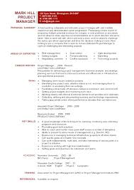 construction project manager resume resume template project