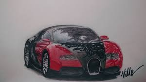 bugatti car drawing bugatti veyron speed drawing youtube