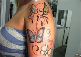 butterfly women tattoo art and designs page 3
