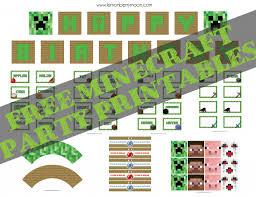 free minecraft party printables u2013 lemonberrymoon com