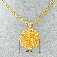 aliexpress gold necklace images Anniyo flower charm pendant necklace gold color and copper jewelry jpg
