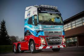 volvo truck group malcolm group takes delivery of 200 000th uk volvo at celebrity
