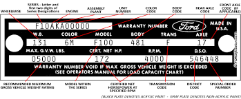 decode your u002765 u002766 ford truck vin tag fordification info the