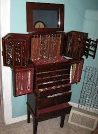 Wooden Jewelry Armoire Real Wood Jewelry Armoire Foter