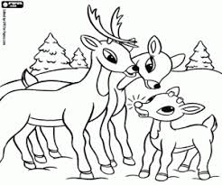 rudolph the red nosed reindeer coloring pages printable games