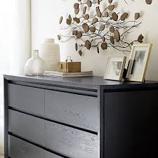 Crate And Barrel Sideboard Lang 6 Drawer Dresser With Teakroot Discs Wall Art Crate And