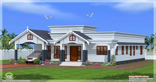 Home Design Front Elevation by Front Elevation Of Single Floor House Kerala Also Bedroom Plans