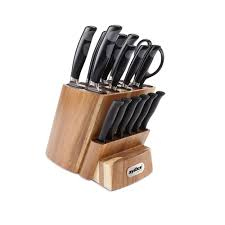 Images Of Kitchen Knives Zyliss 16 Kitchen Knife Block Set With Steak Knives