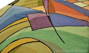 Contemporary Modern Area Rugs Kandinsky Rugs Abstract Wall Hangings Accent Carpets