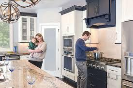 kitchen cabinets open floor plan open floor plan in black white kitchen design cliqstudios