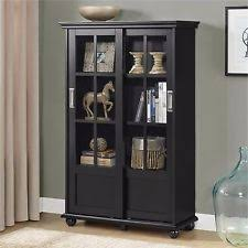 black bookcases with glass doors glass contemporary bookcases with doors ebay