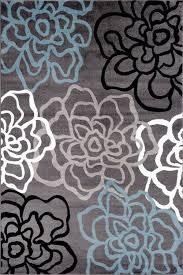 Purple Flower Rug Gray Blue Floral Rug Flower Contemporary Carpet Discount Area